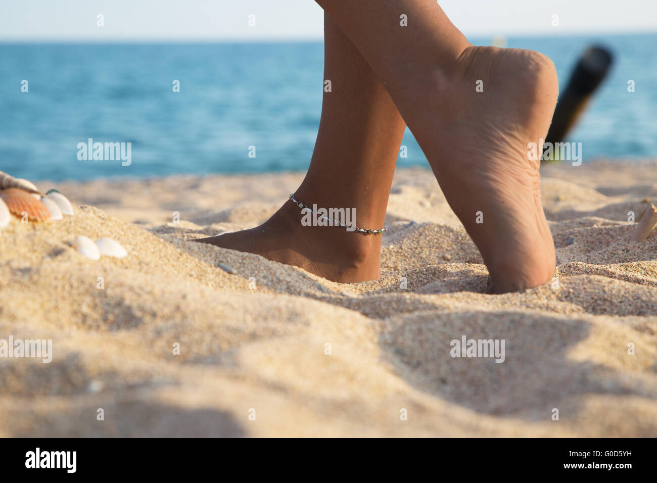Feet of a girl, Bodyparts - Stock Image