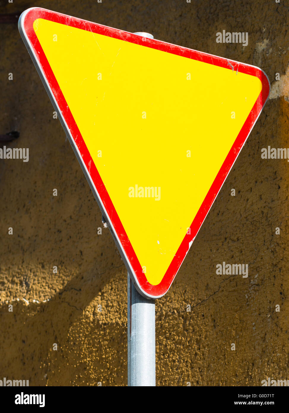 Give way sign - yield sign - Stock Image