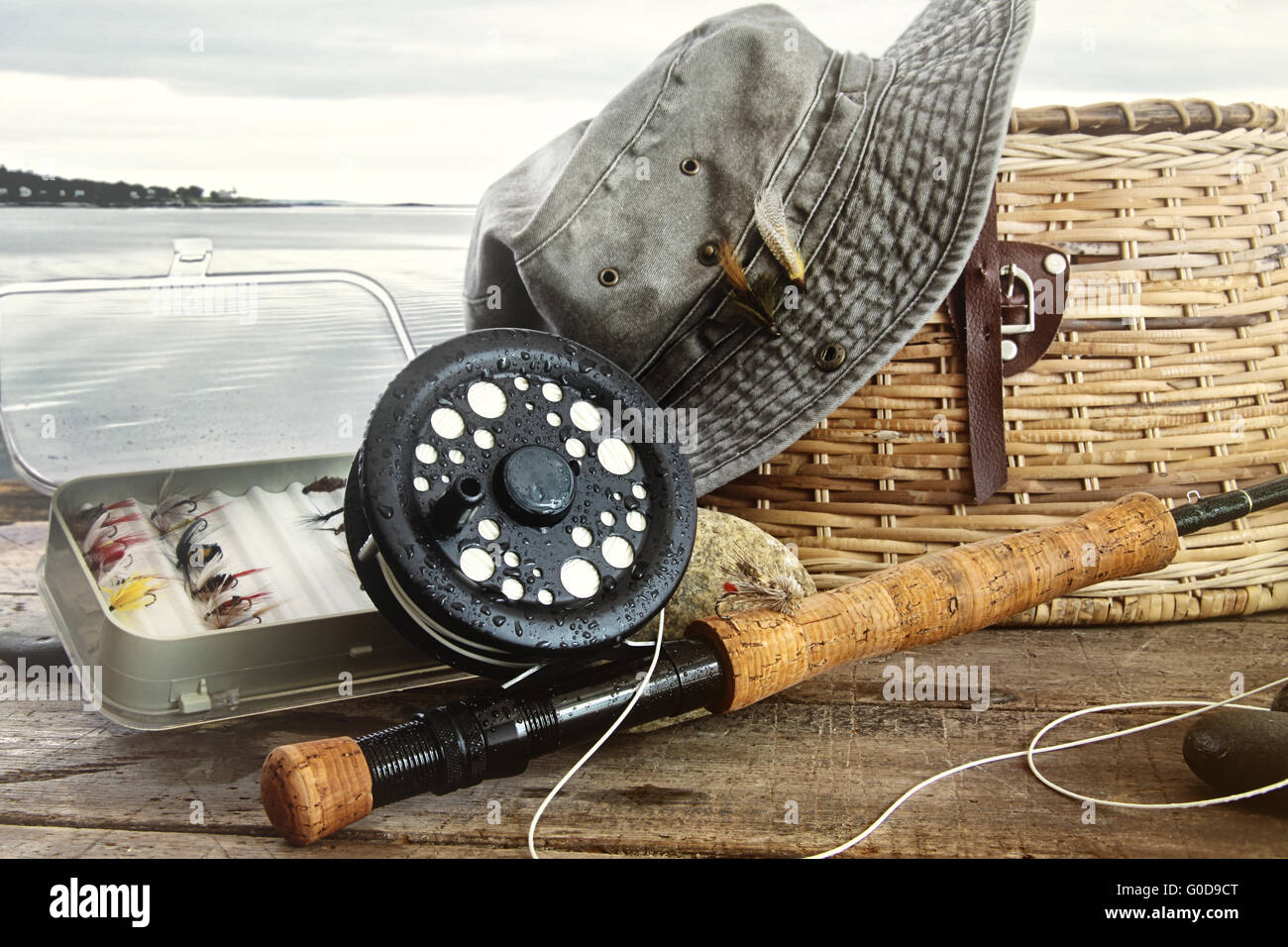 Bass fishing fly freshwater fishing stock photos bass for Fly fishing supplies near me
