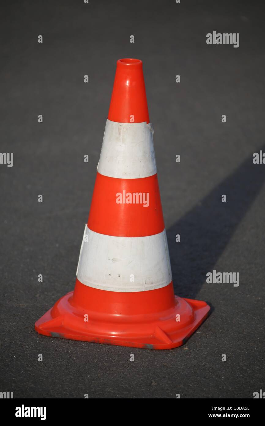 traffic cone - Stock Image