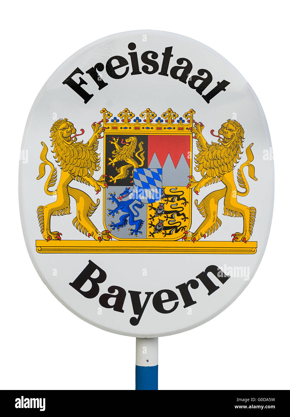 Sign free state Bavaria - Stock Image