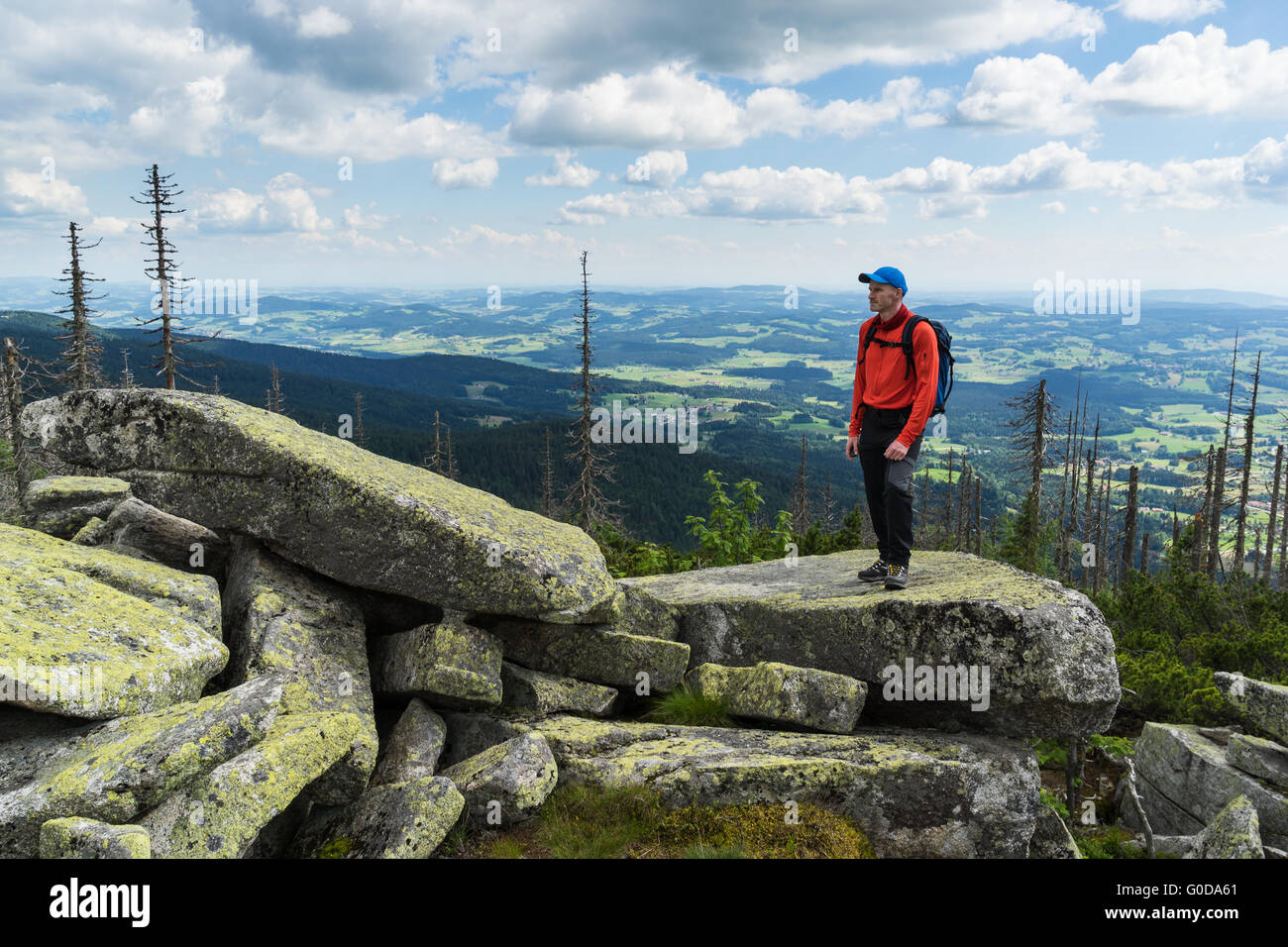 Hiker with outlook - Stock Image