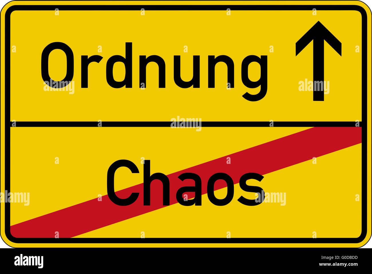 Chaos and order - Stock Image