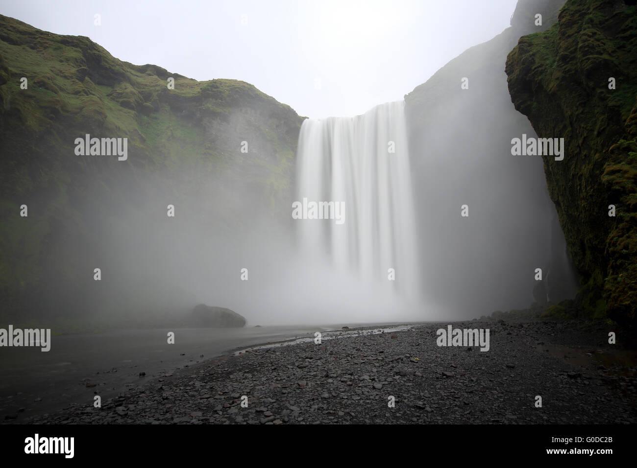 Skógafoss Waterfall - Stock Image