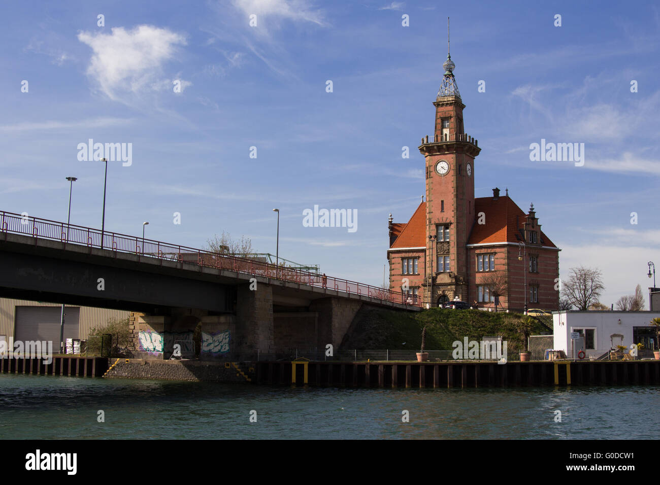old port authority Dortmund - Stock Image