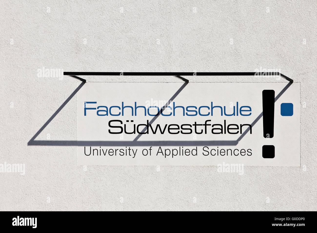 University of Applied Sciencesces Suedwestfalen - Stock Image
