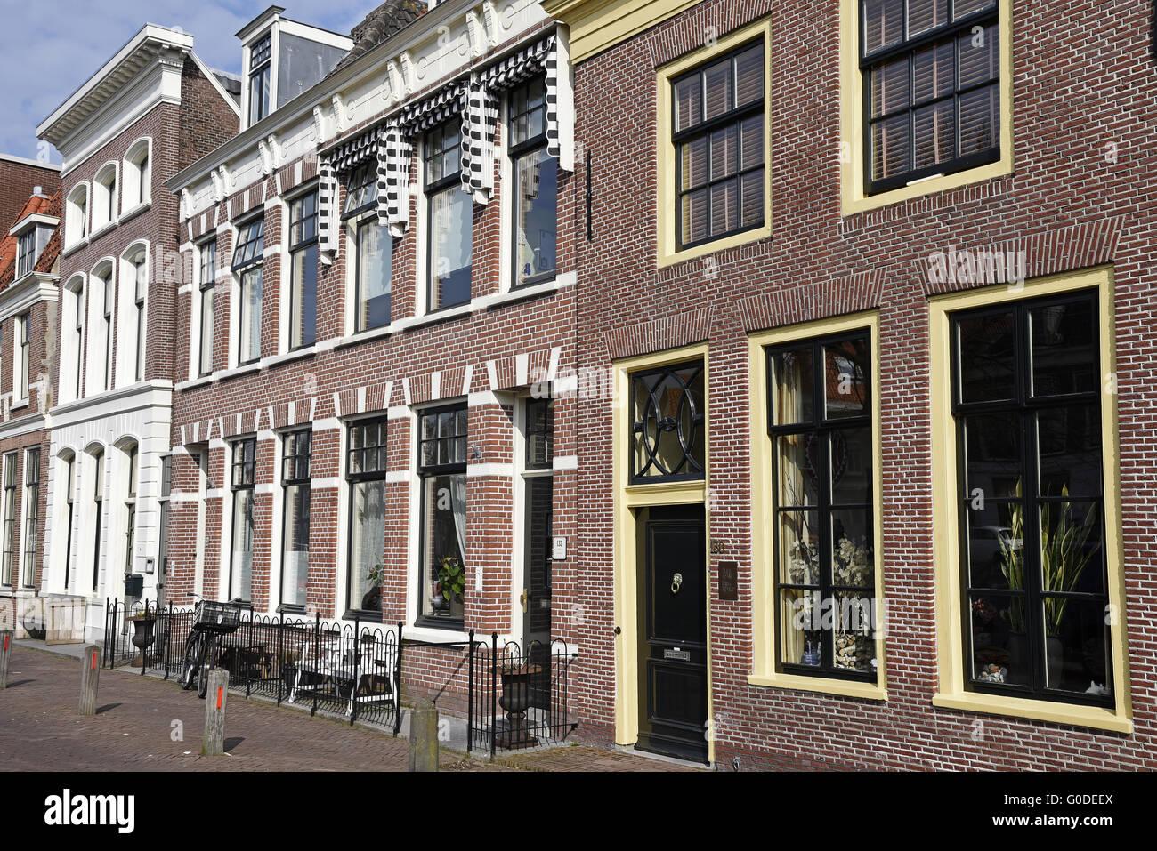 Residential houses, Alkmaar, The Netherlands - Stock Image