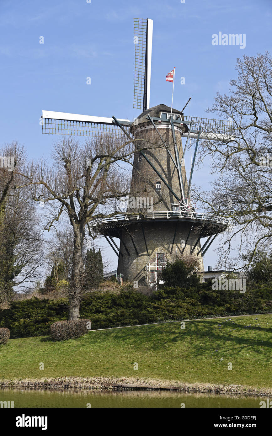 windmill, Alkmaar, The Netherlands - Stock Image