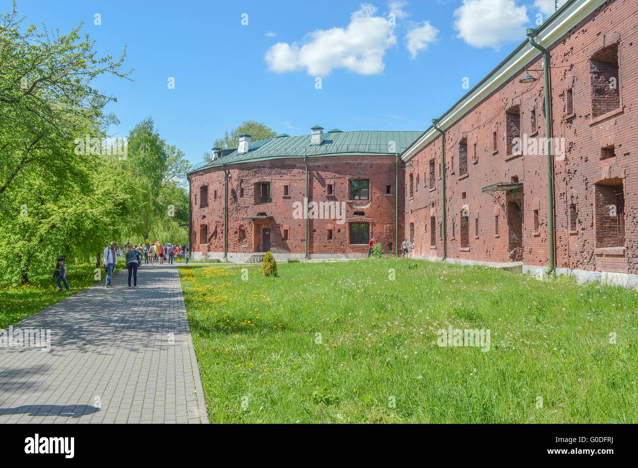 Brest, Belarus - May 9, 2015: Brest Fortress, Brest, Belarus. It is one of the Soviet World War II war monuments - Stock Image