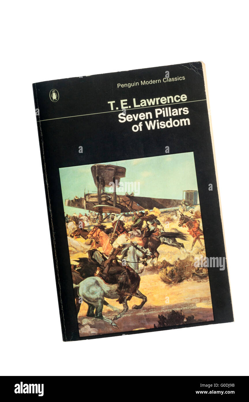 A copy of Seven Pillars of Wisdom by T. E. Lawrence. - Stock Image