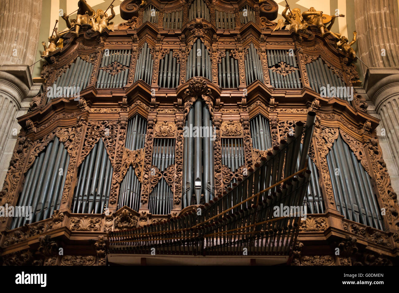 Mexico city mexico one of the two pipe organs in the metropolitan mexico city mexico one of the two pipe organs in the metropolitan cathedral the cathedral houses two of the largest 18th century pipe organs in the ccuart Image collections