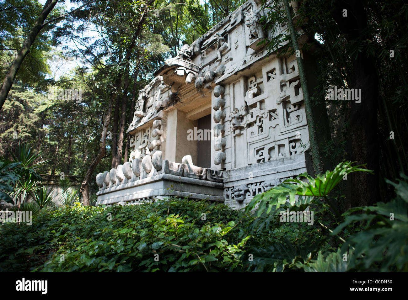 MEXICO CITY, MEXICO--The National Museum of Anthropology showcases  significant archaeological and anthropological - Stock Image