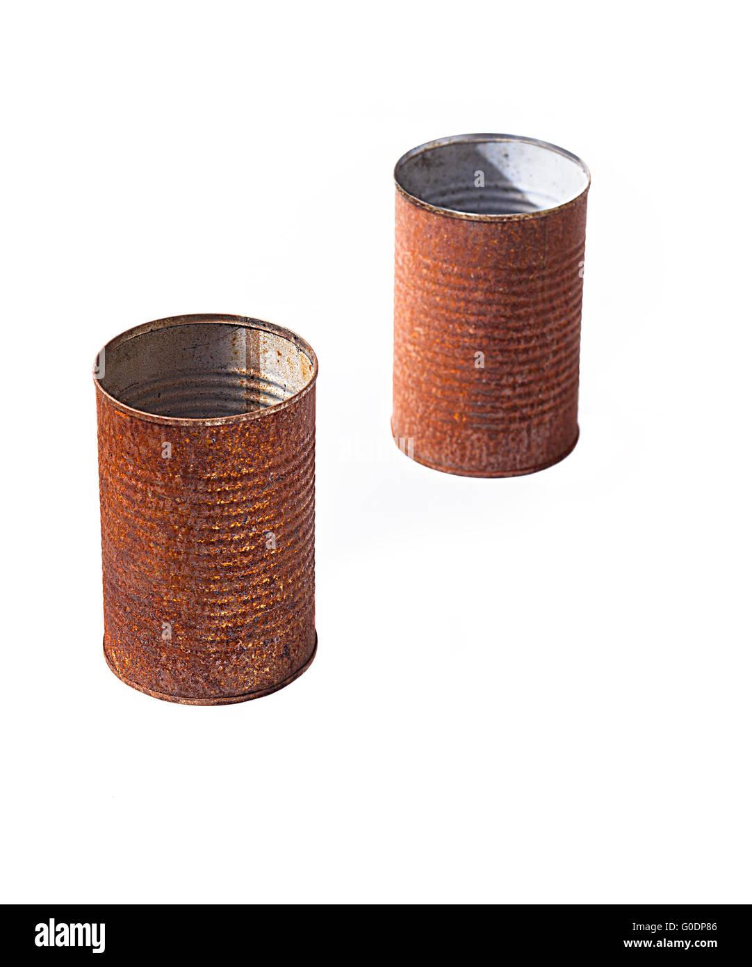Rust Tin Can - Stock Image