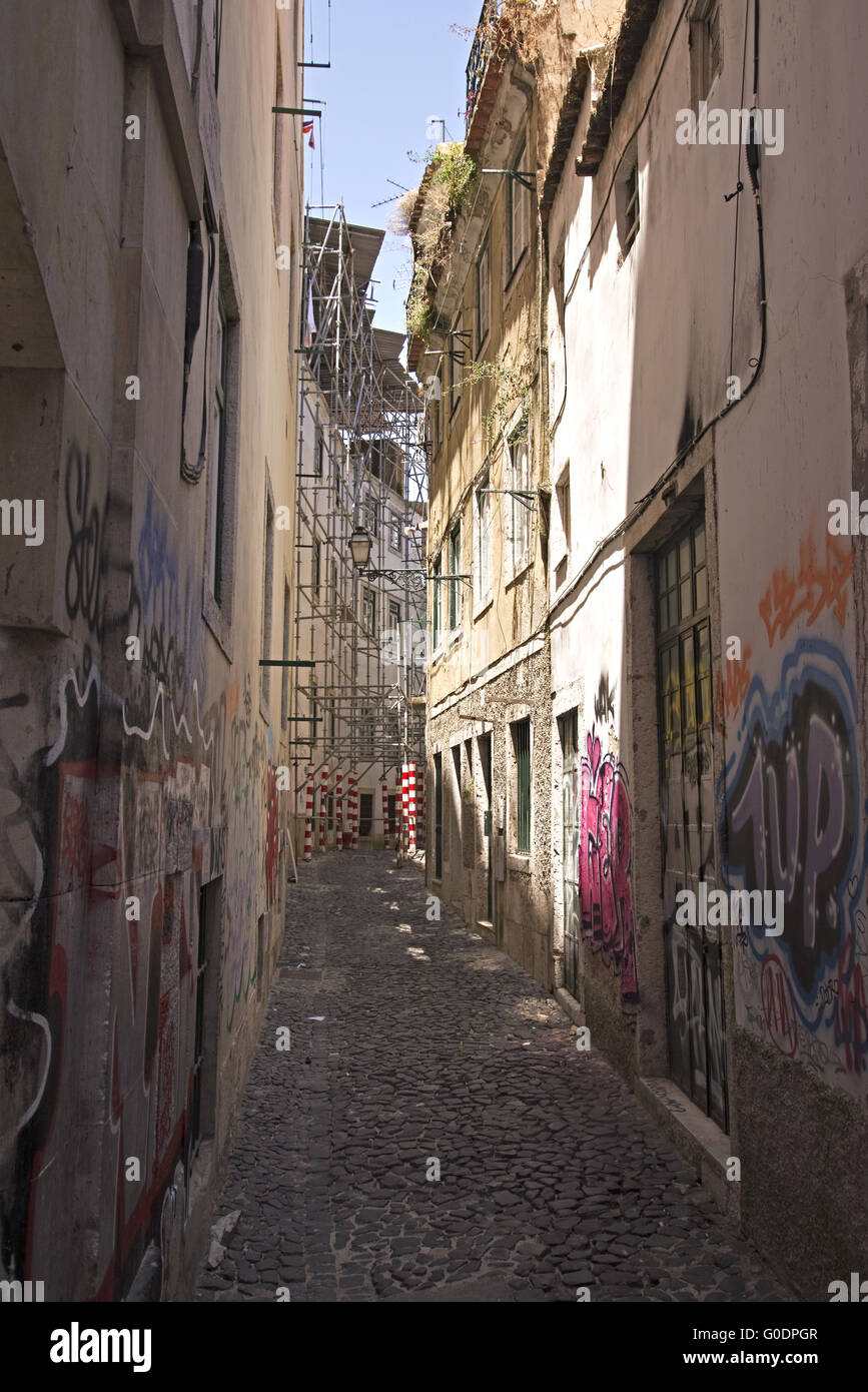 Housing alley - Stock Image