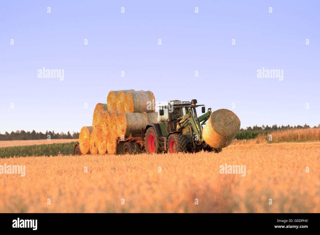 Tractor at work Stock Photo