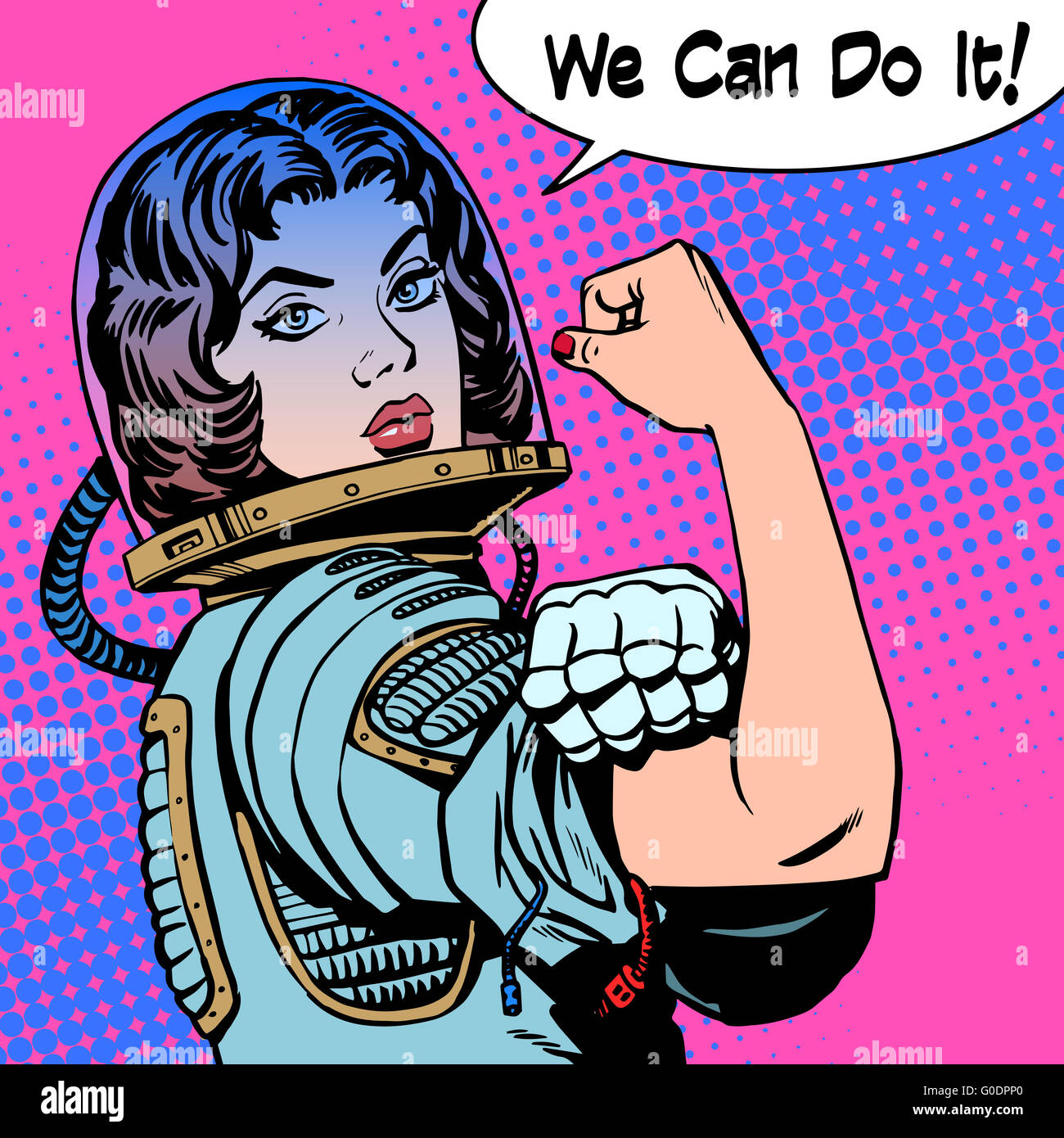 woman astronaut we can do it the power of protest - Stock Image