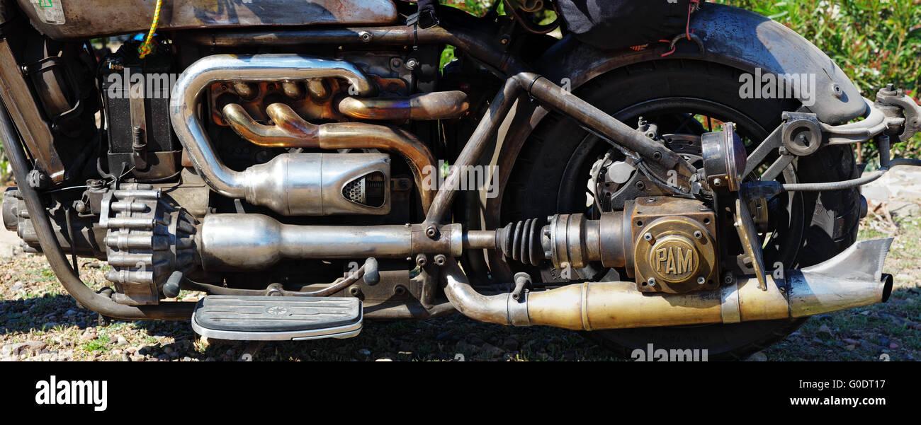 Engine and Transmission - Custom - Rat - Bike - Stock Image