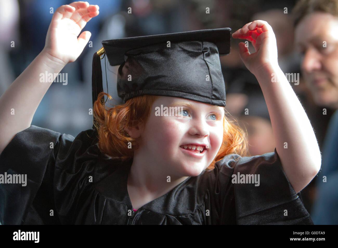 kindergarden nursery children graduating - Stock Image