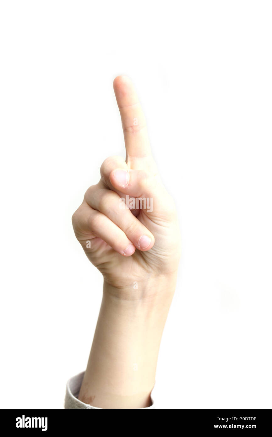 finger pointing - Stock Image