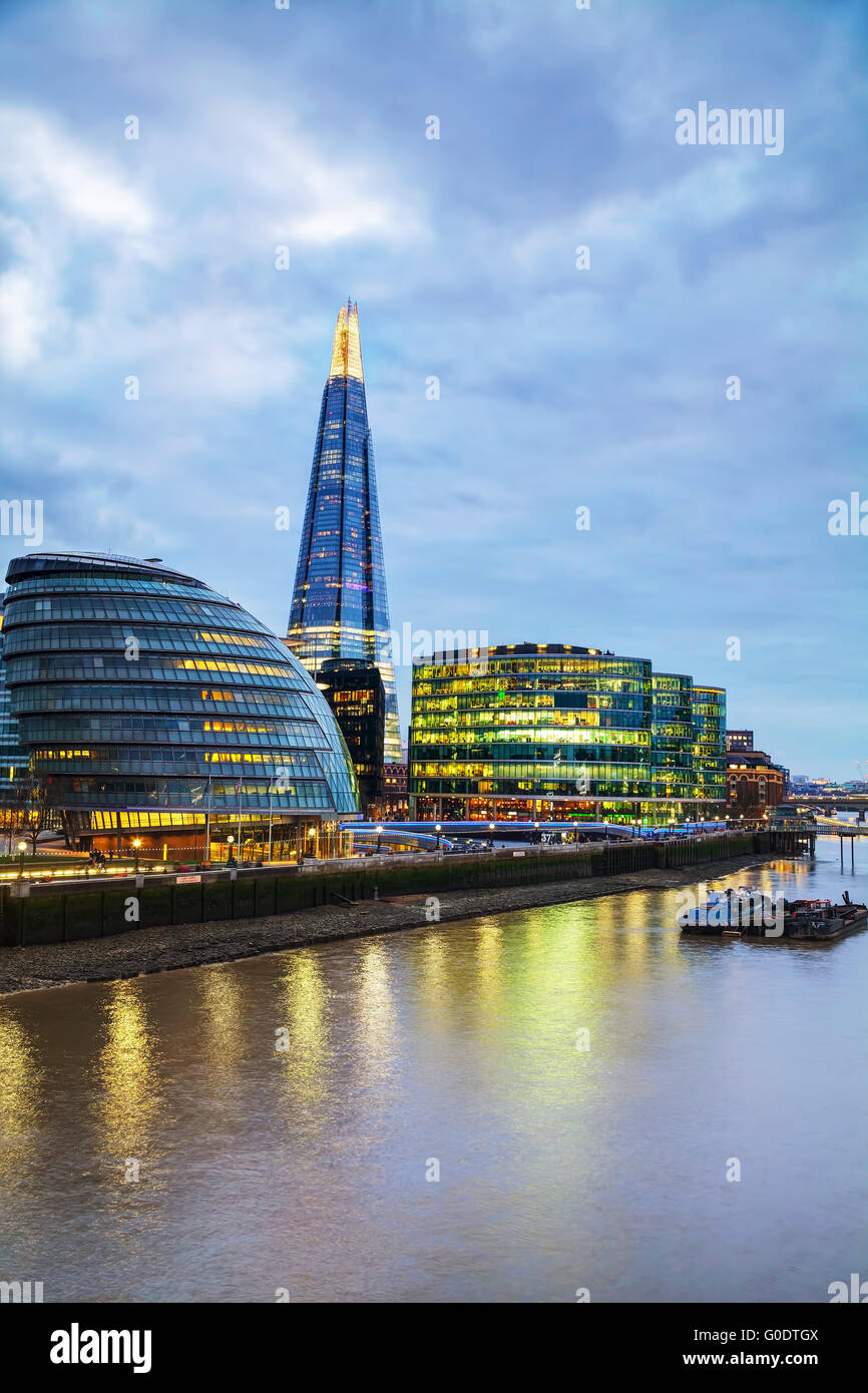 Overview of London with the Shard London Bridge - Stock Image