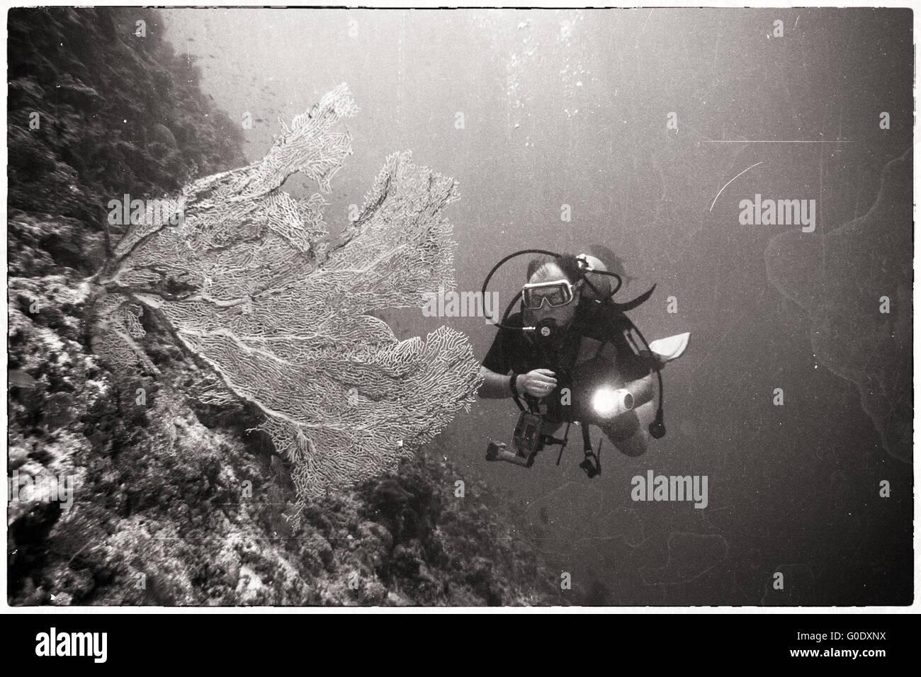 Vintage Diver Stock Photo
