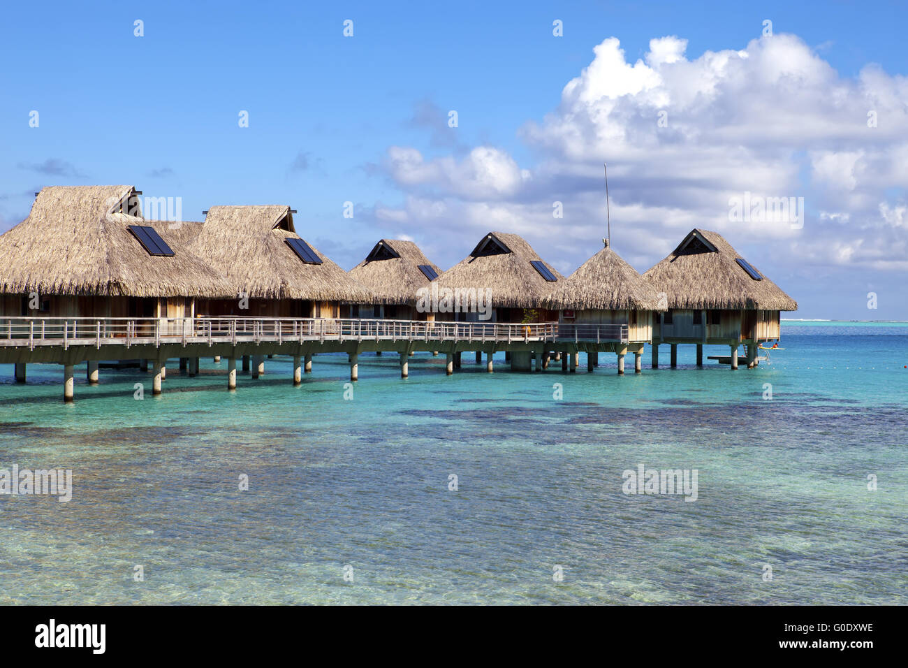 Tropical Islands   Huts, Wooden Houses Over Water