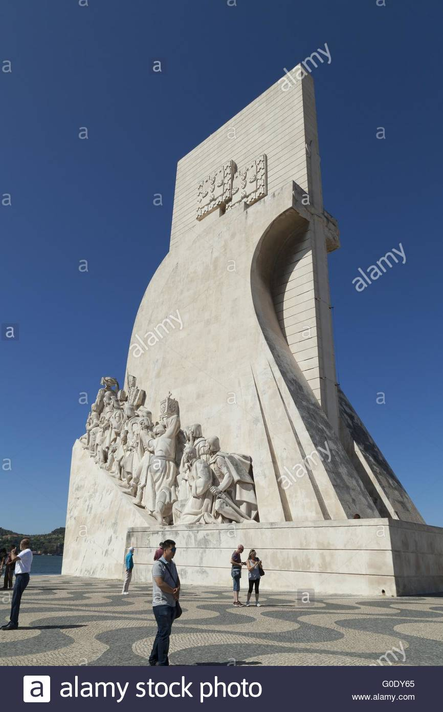 Monument to the Discoveries in Lisbon - Stock Image