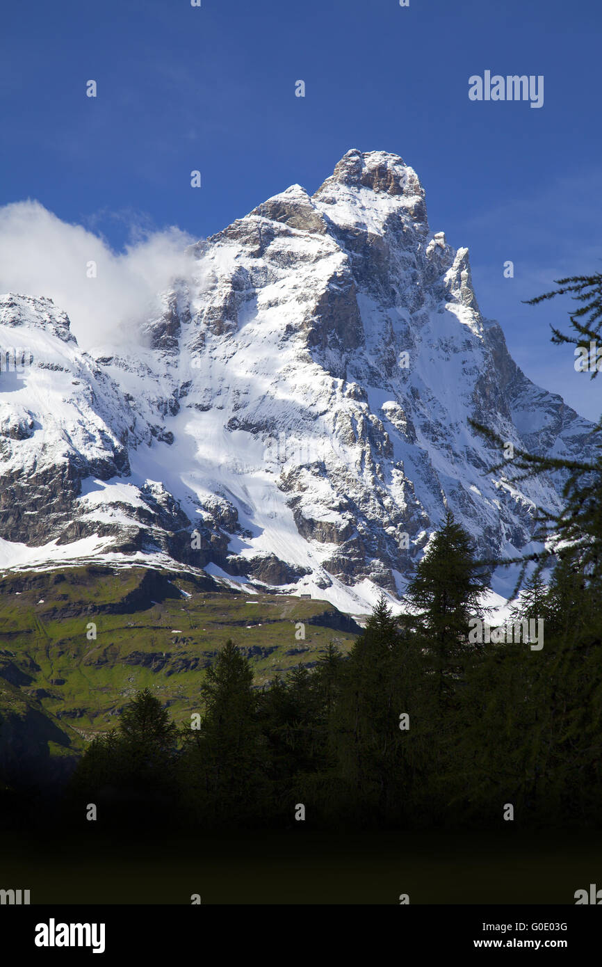 Matterhorn South Face - Stock Image