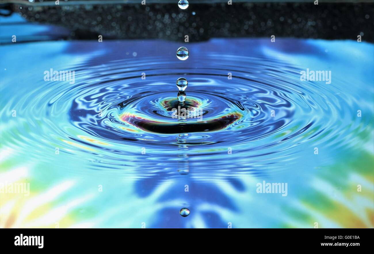 drops, bouncing drops - Stock Image