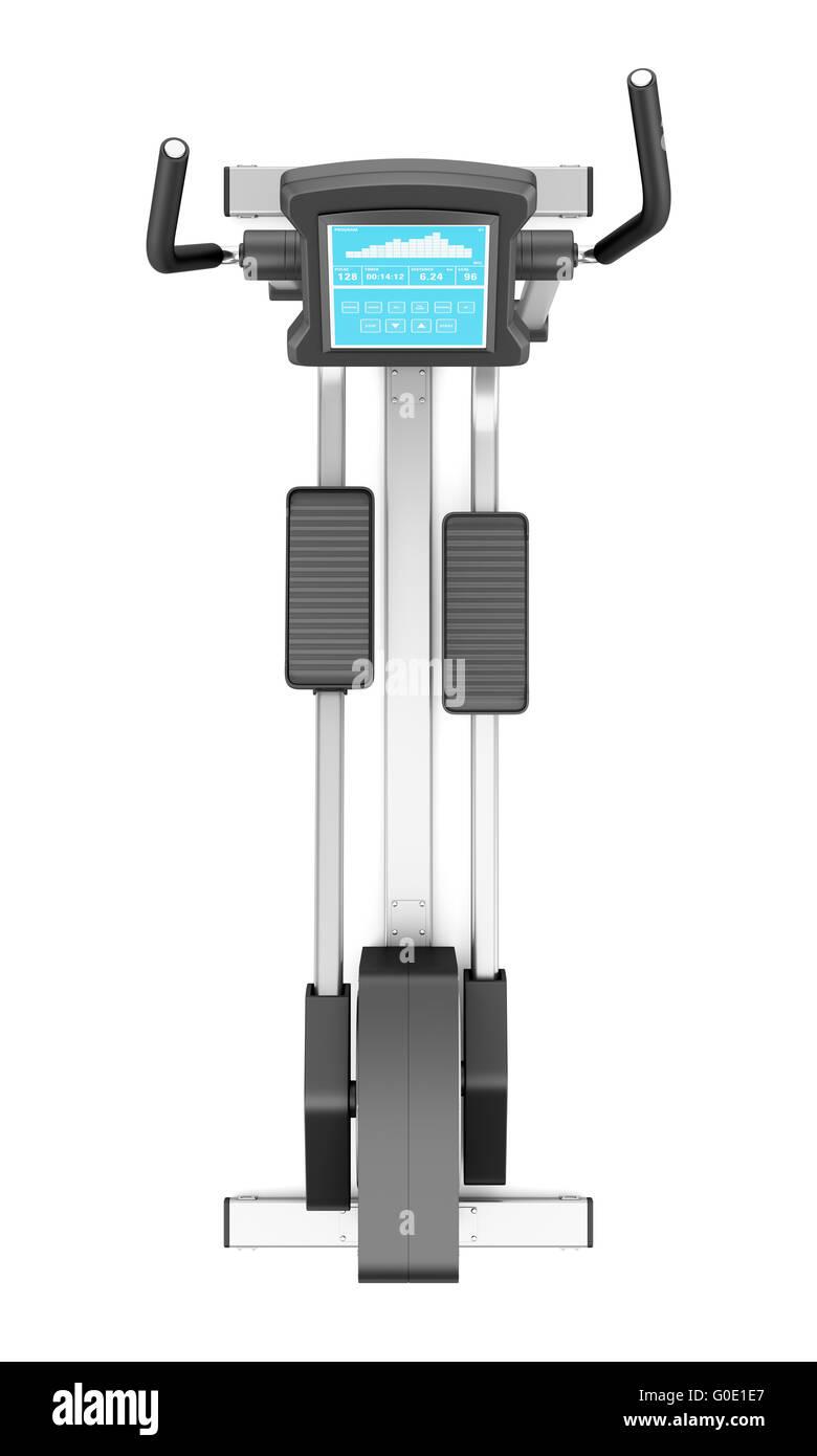 elliptical cross trainer isolated Stock