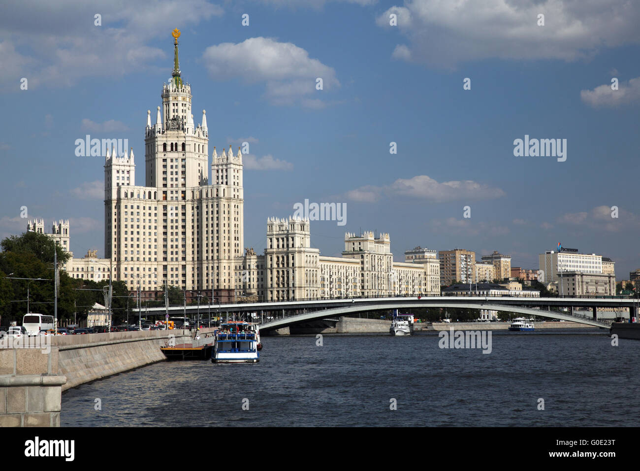 Moscow and the Moskva river - Stock Image