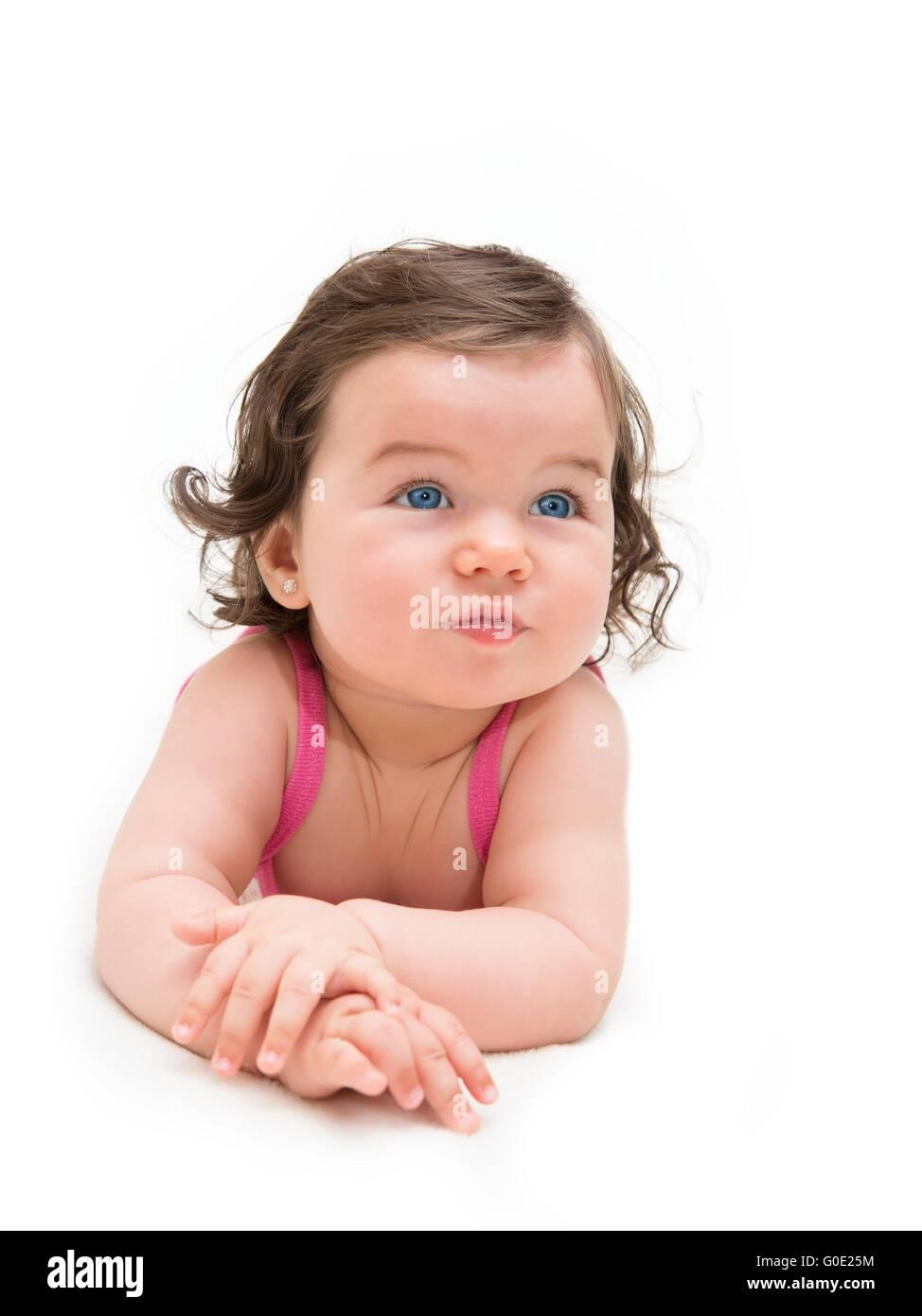 Beautiful baby girl - Stock Image