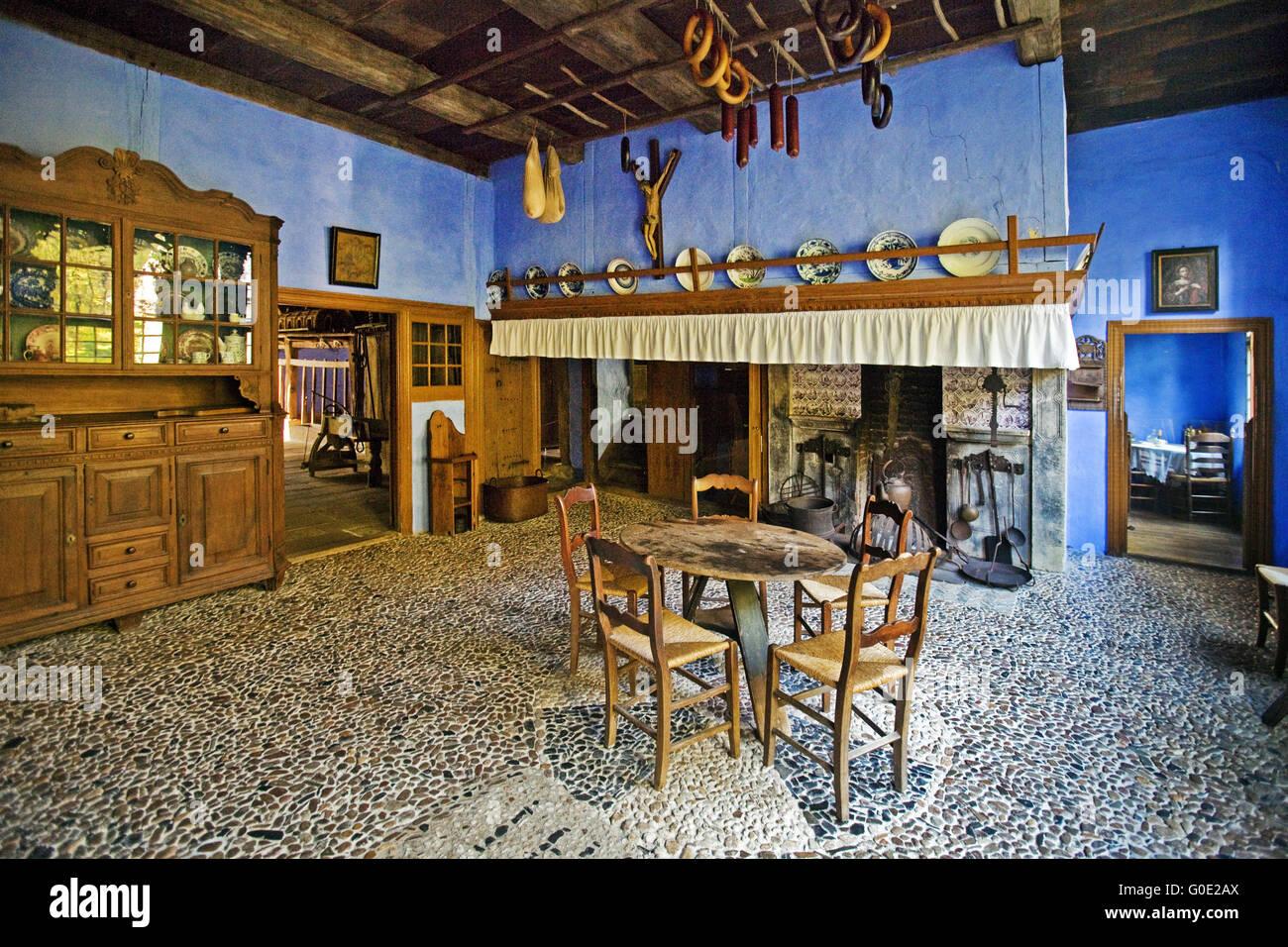 historic interior, open air museum, Detmold - Stock Image