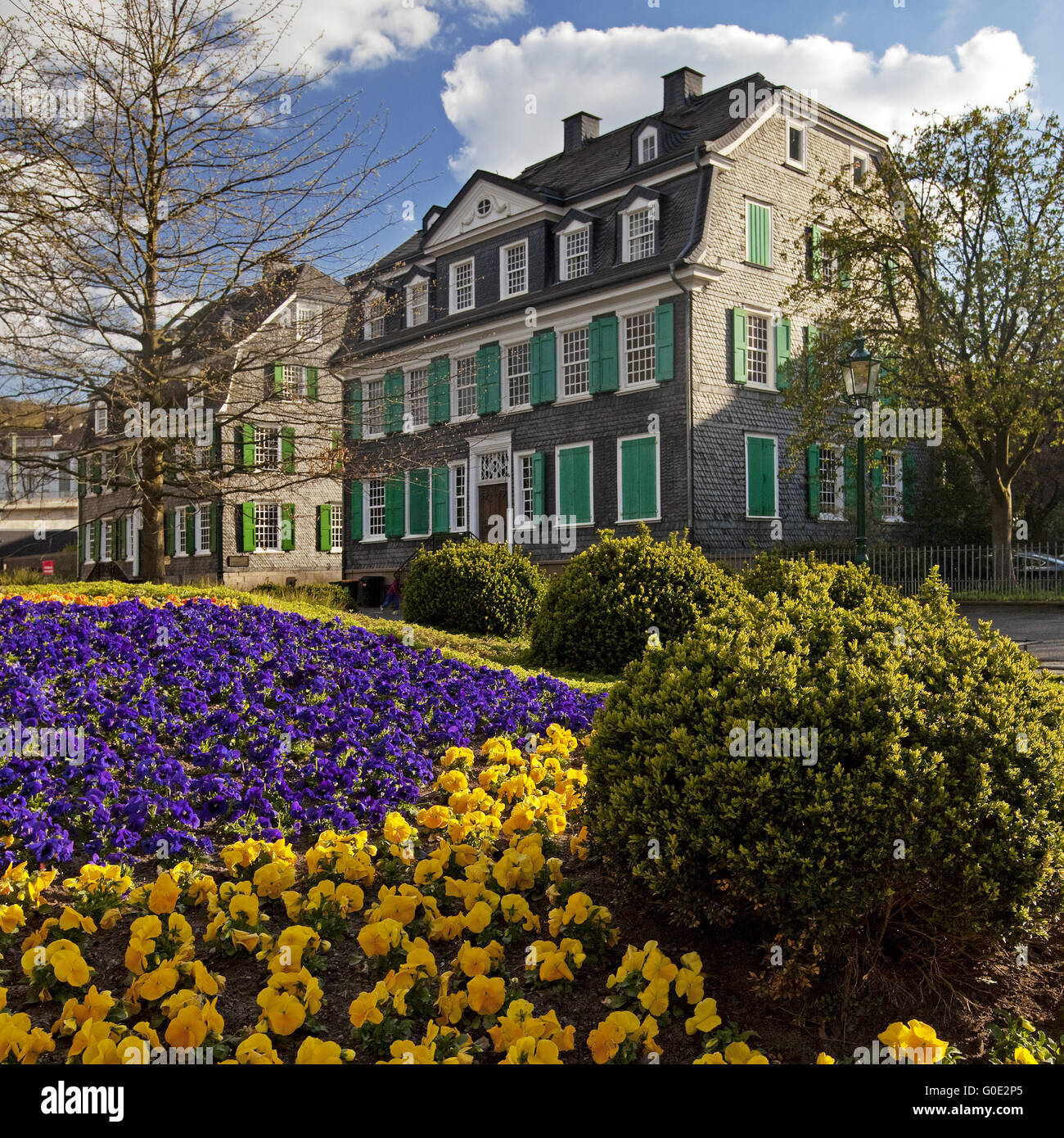 Engels Park at the historical centre in Barmen - Stock Image