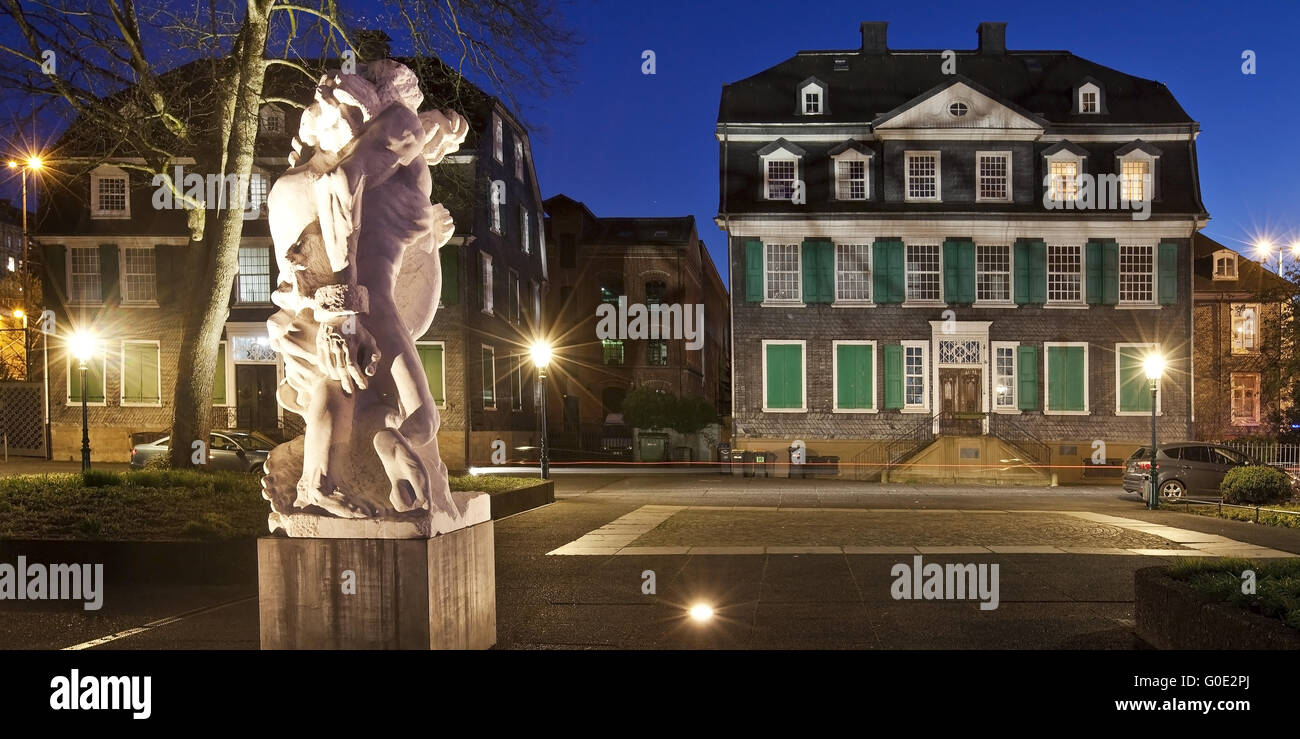 historic town centre of Barmen, Wuppertal - Stock Image