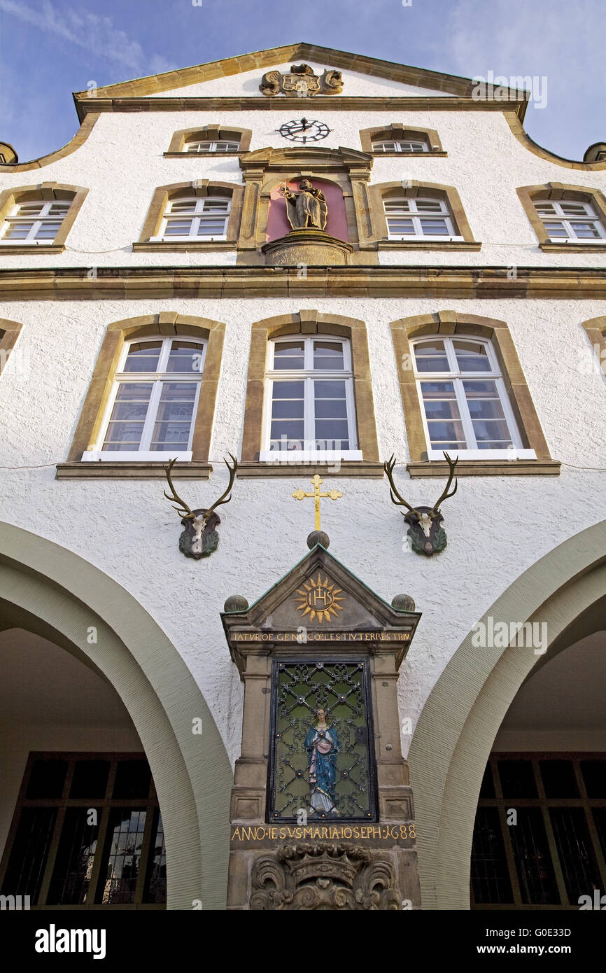 historic twon hall, Brilon, Sauerland, Germany - Stock Image
