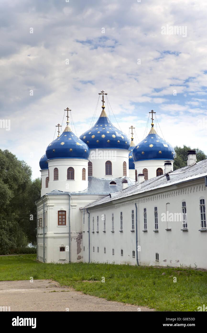 Russian orthodox Yuriev Monastery, Church of Exalt - Stock Image