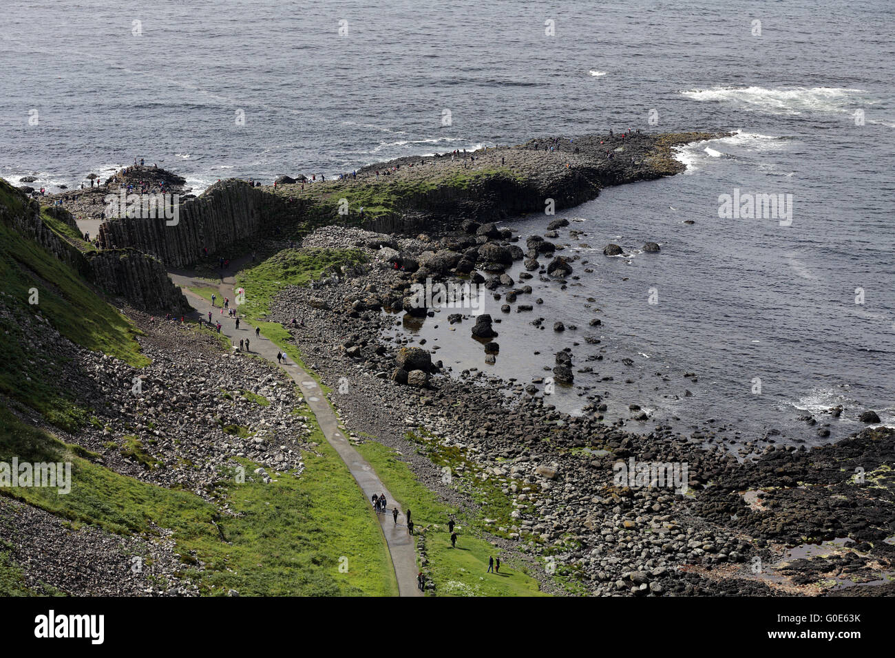 Giant's Causeway, County Antrim, Northern Ireland - Stock Image