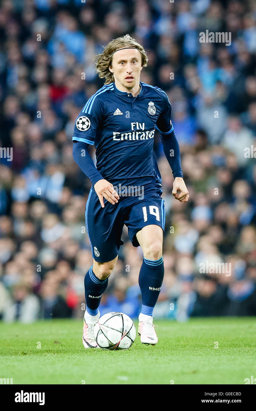 064835f8f Luka Modric (Real) Football Soccer   Luka Modric of Real Madrid during the UEFA  Champions League Semi-final 1st leg match between Manchester City and Real  ...