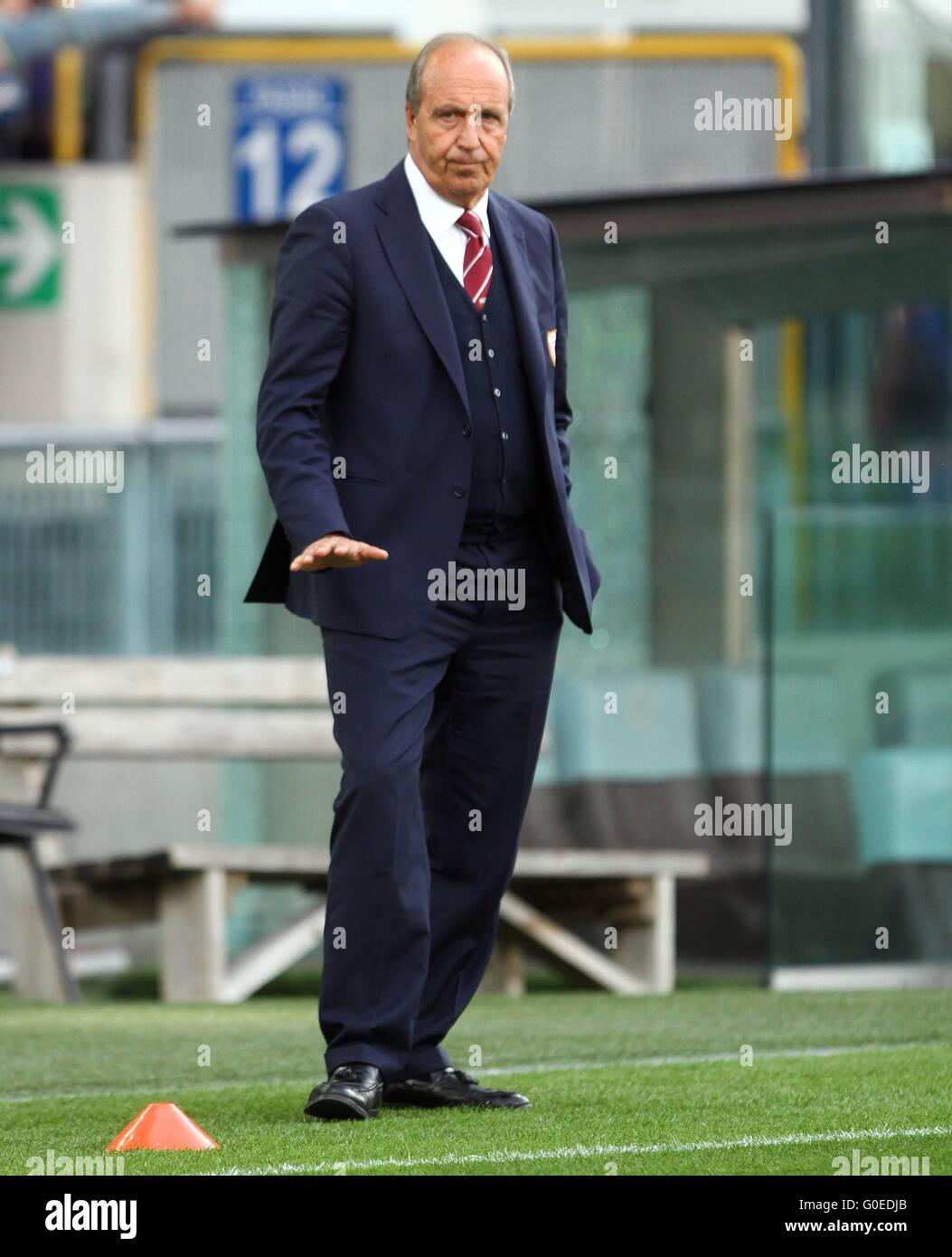 Udine, Italy. 30th April, 2016. Torino's Head Coach Giampiero Ventura during the Italian Serie A football match Stock Photo