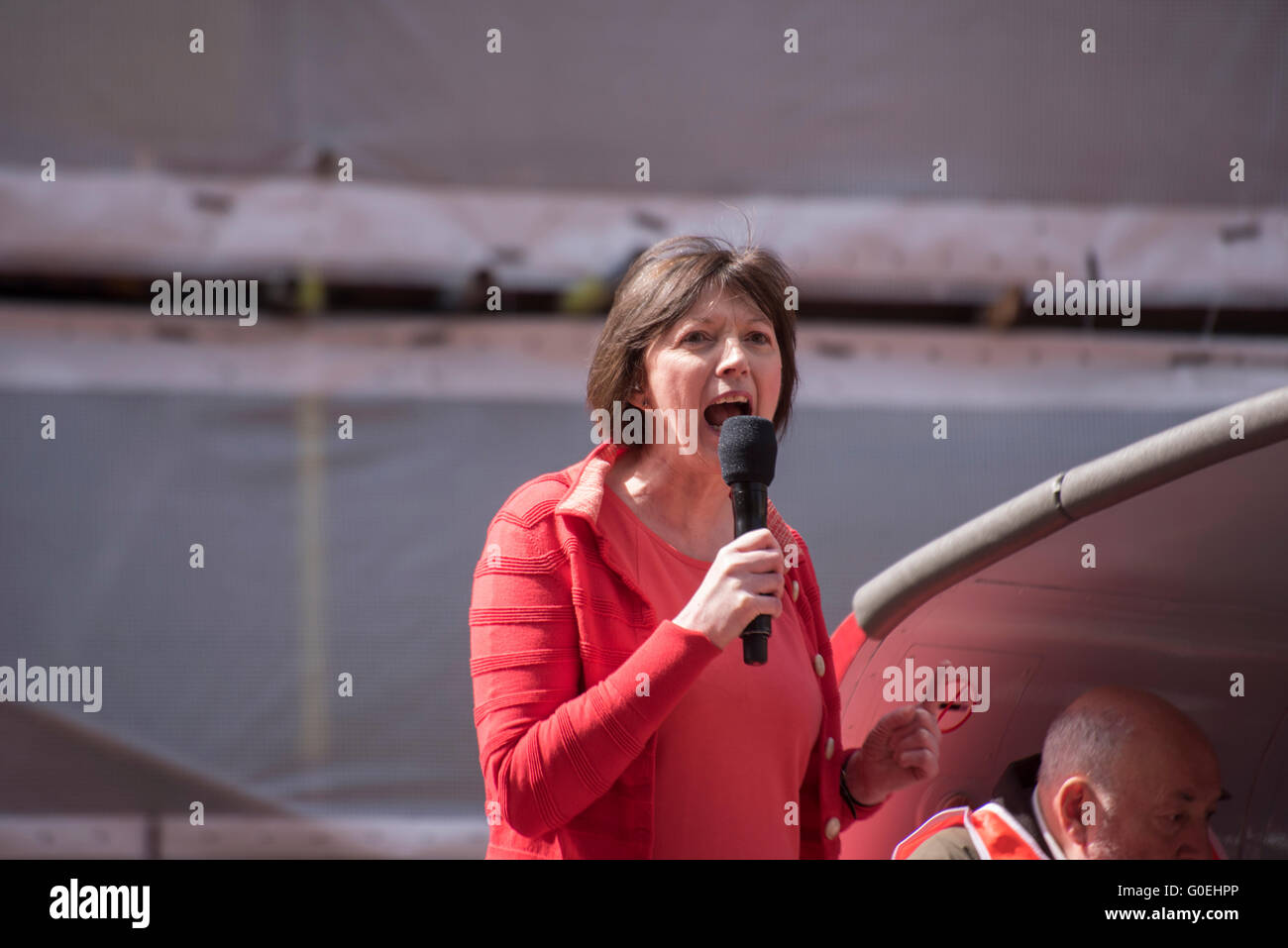 London, United KIngdom. 1st May 2016. Frances O'Grady the General Secretary of the British Trades Union Congress - Stock Image