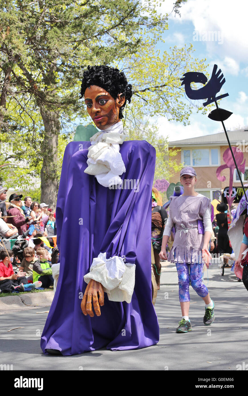 Minneapolis Minnesota USA. 1st May 2016. A large puppet in the  sc 1 st  Alamy & Prince Musician Stock Photos u0026 Prince Musician Stock Images - Alamy