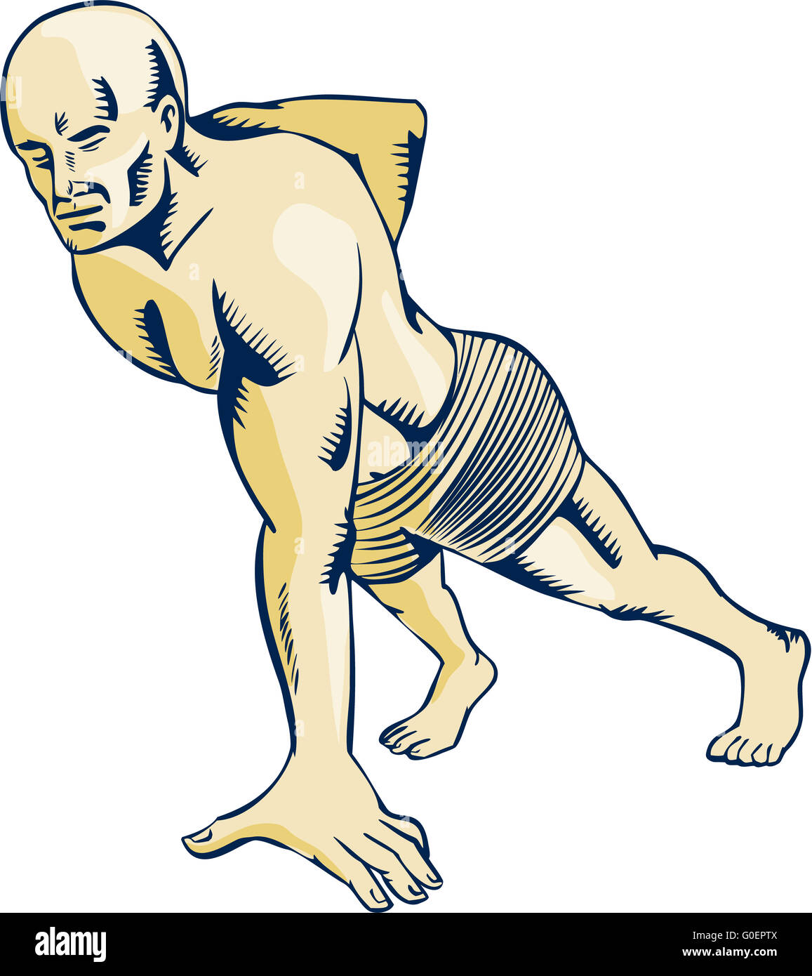 Muscle Vintage Engraved Illustration Stock Photos & Muscle Vintage ...