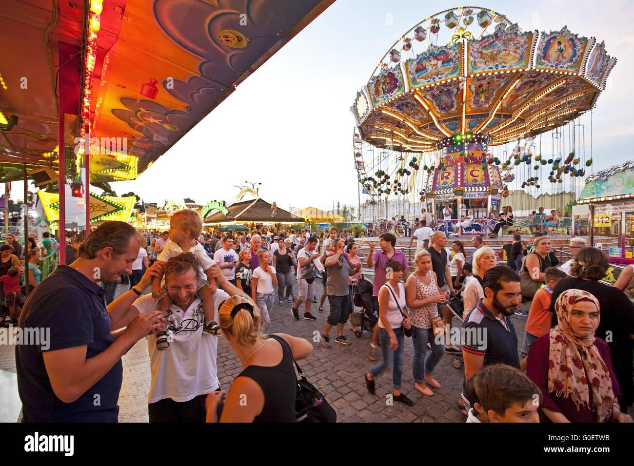 Many People at Cranger Kirmes fair, Herne, Germany - Stock Image