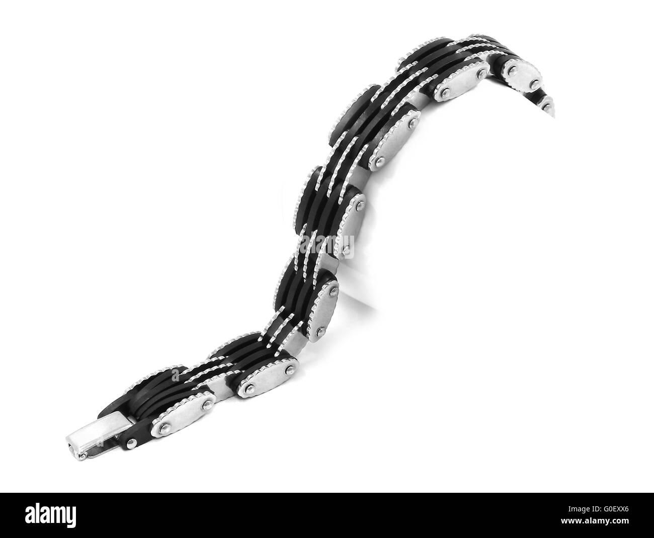 Men's Bracelet stainless steel Stock Photo