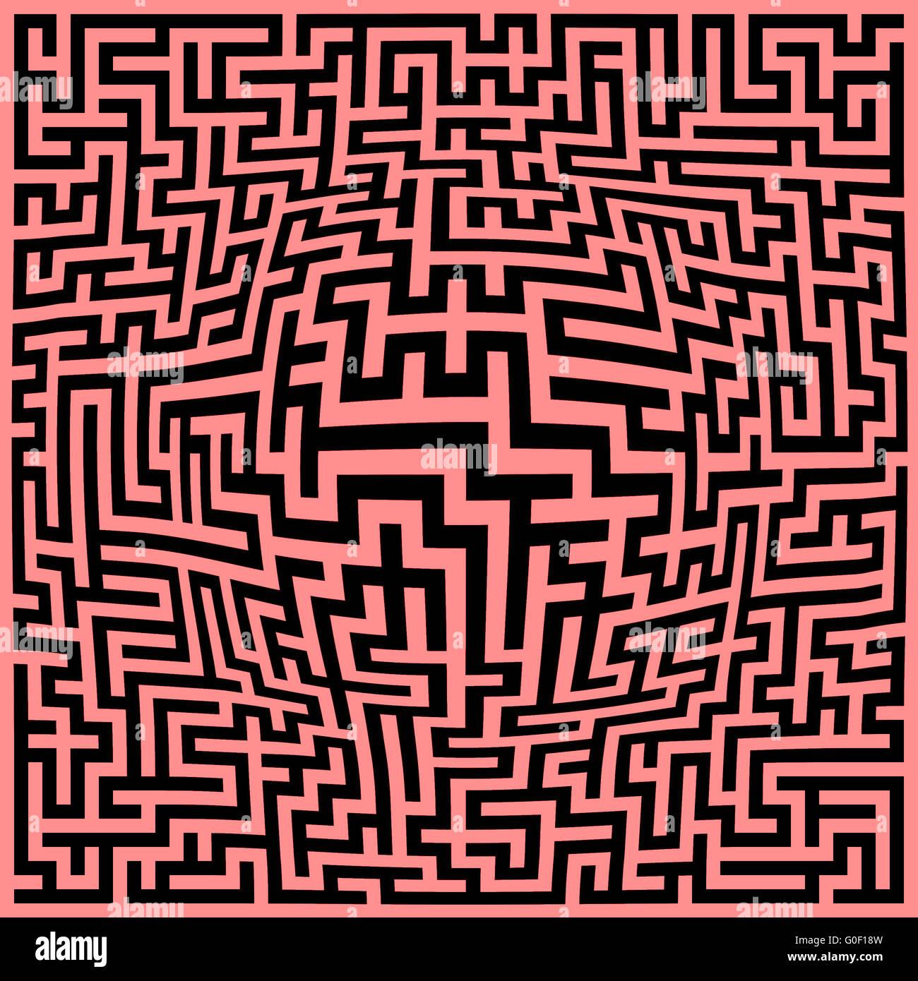 Labyrinth maze background - Stock Image