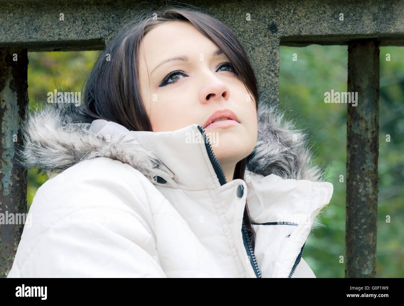 60dad84225 Woman With Fur Collar Stock Photos   Woman With Fur Collar Stock ...