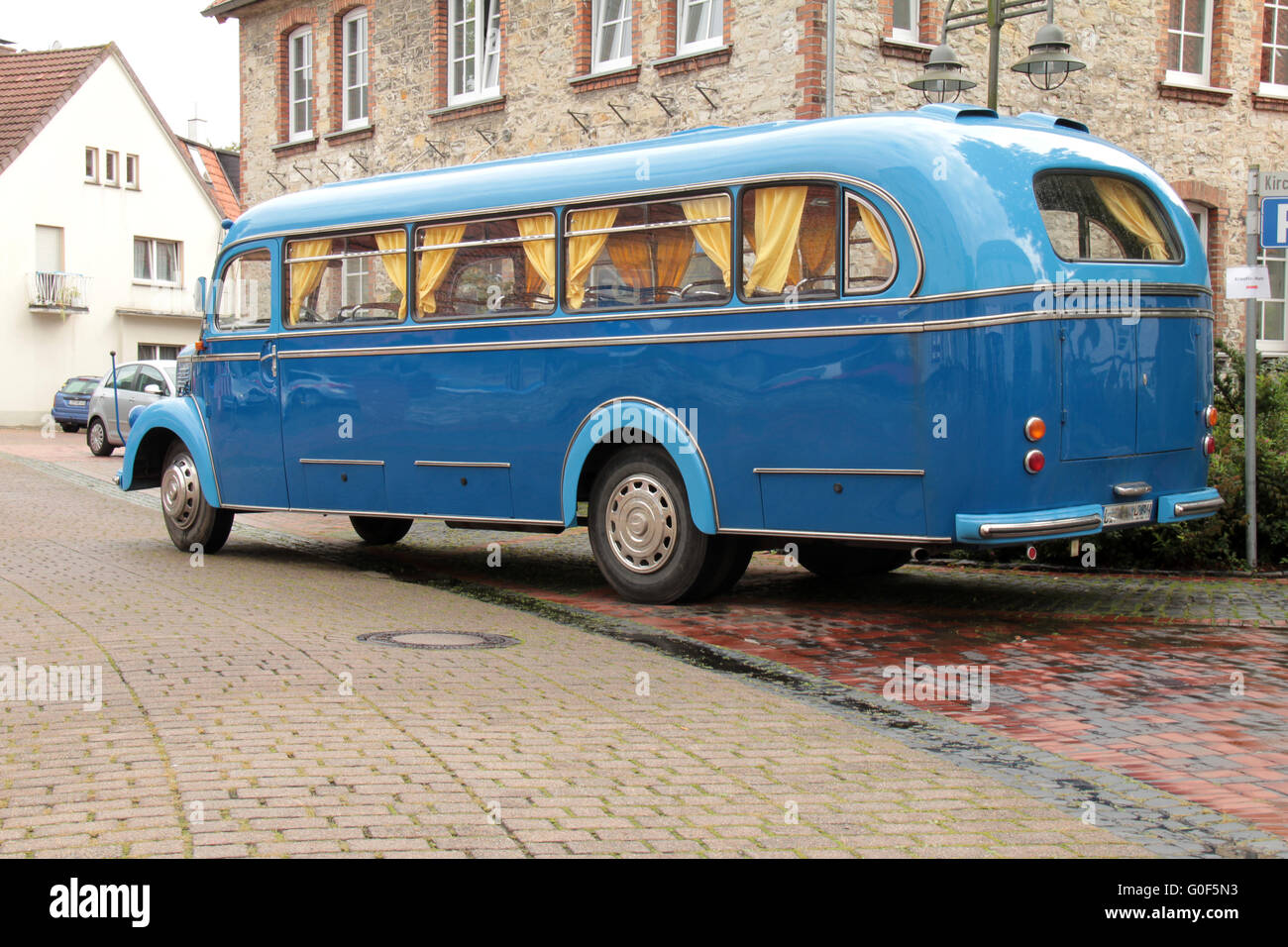 old travel bus - Stock Image
