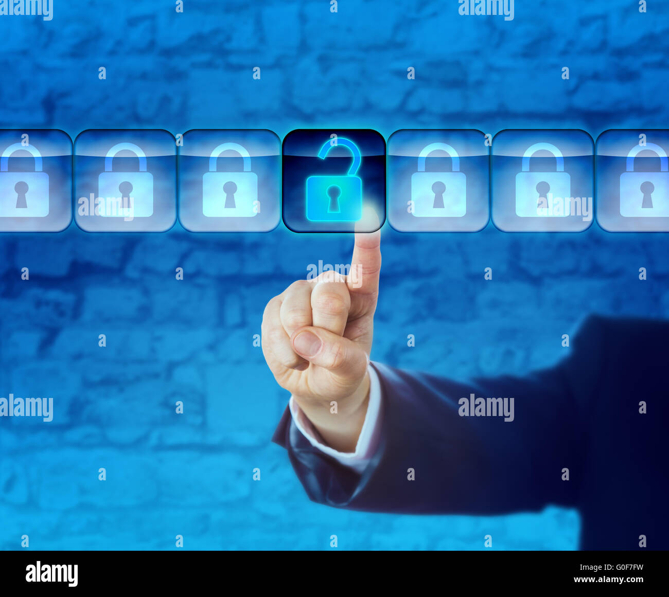 Unlocking An Information Packet In A Data Stream - Stock Image