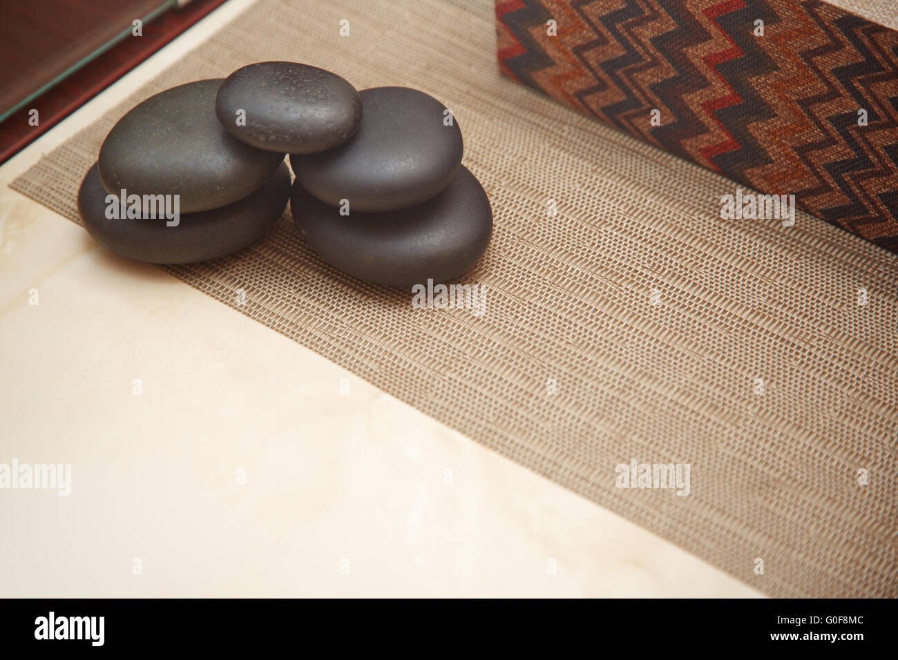 Stones for spa procedure - Stock Image